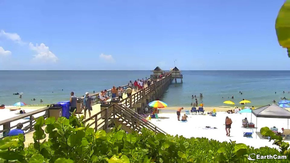 Naples Beach via EarthCam