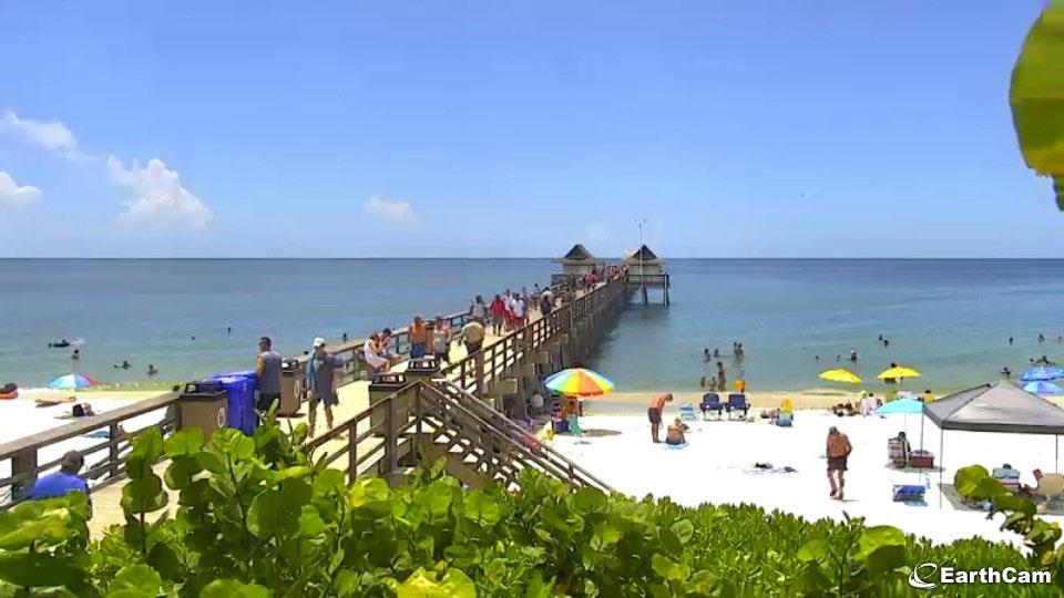 Naples Beach via EarthCam